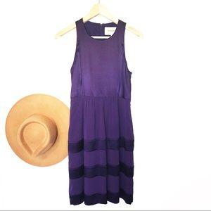 Burberry London tiered silk sleeveless dress